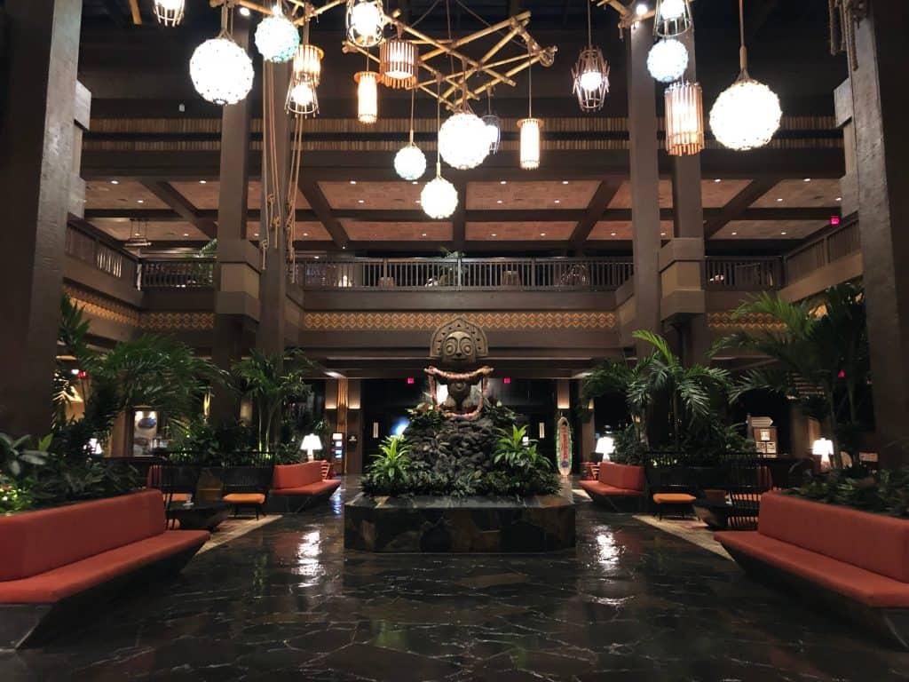 Lobby of Polynesian Village Resort